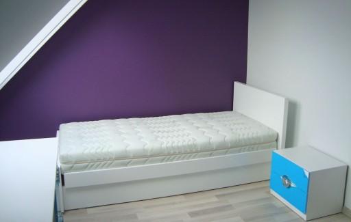 Białe łóżko Z Pojemnikiem Drewniane Odys 90x200