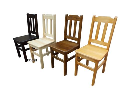 Krzesło Sosnowe Kuchenne JANEK Krzesła 4- Kolory