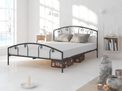 łóżko Metalowe Lak System 160x200 Wzór 20 Stelaż