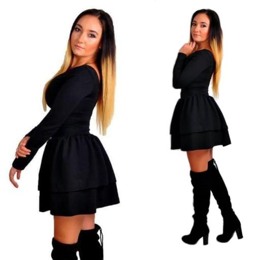 490f5eebc7 Sukienka dresowa z Falbankami rękaw 2 kolory XS S Waga (z opakowaniem) 1