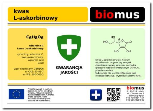 Kwas L-askorbinowy Witamina C LEWOSKRĘ 1000G CZDA