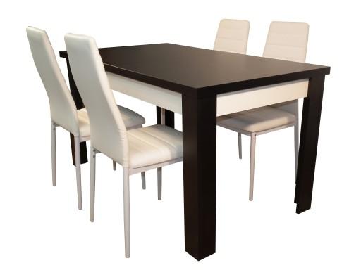 Stół Laminat Z Krzesłami Do Kawalerki Małej Kuchni