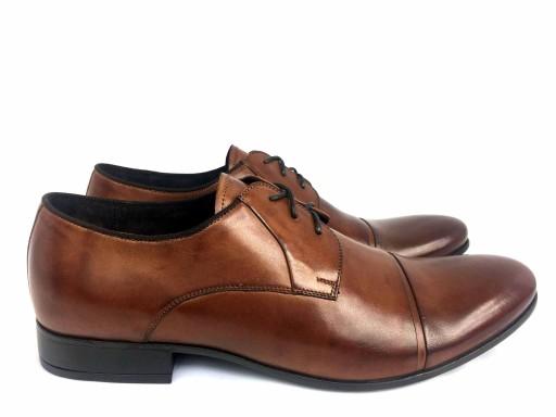 f524701a3c19c PILPOL 1604 pantofle wizytowe brązowe 39 7424971705 - Allegro.pl
