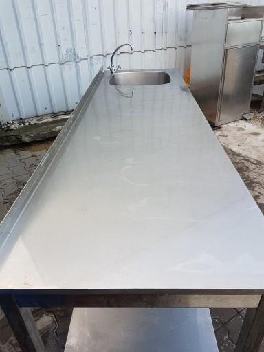 Stół roboczy z zlewem 240x70x85