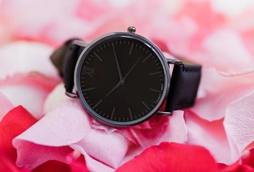 Zegarek Damski Męski SIMPLE BLACK klasyczny czarny