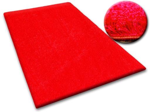 DYWAN SHAGGY 70x100 5cm czerwony miękki jednolity