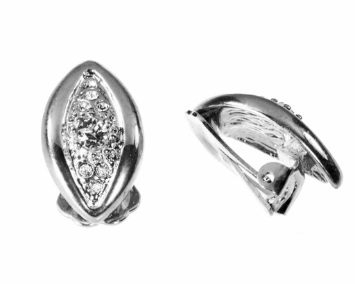 klipsy srebrne z kamieniam Swarovski COLIBRA małe