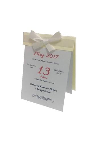 Zaproszenie Pierwsza Komunia święta Kalendarz 7547629395 Allegropl