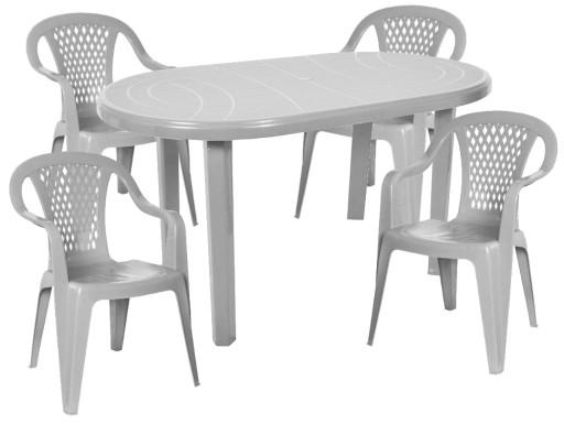 Plastikowy Mocny Zestaw 4 1 Krzesla Stol Ogrodowy 7413982883 Allegro Pl