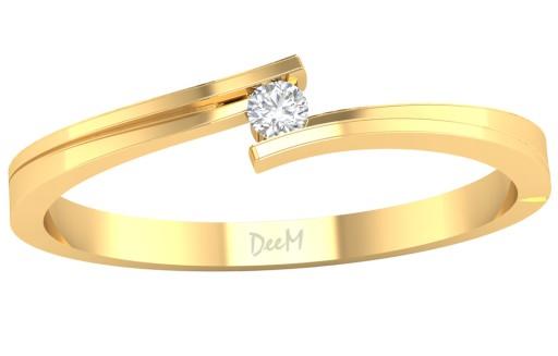 412 Złoty Pierścionek Zaręczynowy Klasyczny Pr 585 7600102134