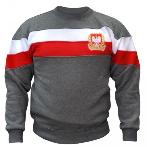 f664cd1c0 Bluza patriotyczna klasyczna pasy Polska r. L 7181661451 - Allegro.pl