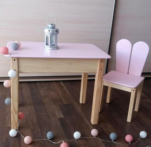 Stolik Krzesełko Królik Meble Z Drewna Dla Dzieci