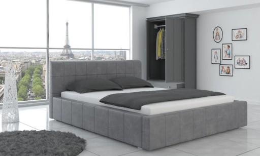 łóżko 200 X 200 Cm Pojemnikstelażmaterac W Cenie