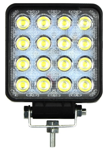 ZIBINTAS (LEMPOS-FAROS) VEIKIANTIS 16 LED HALOGENAS 48W 12V 24V LEDINE