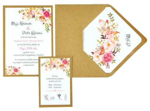 Zaproszenia ślubne Na ślub Eco Diy 7627673583 Allegropl