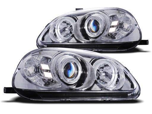 LAMPY HONDA CIVIC VI 99 00R RINGI LED SONAR CHROM
