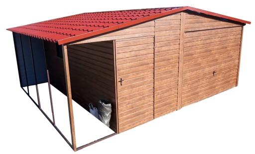 Garaże Blaszane Garaż Blaszany 5x61 Wiata Blaszak 7608421559