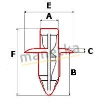 Kołek montażowy owiewek spinka SUZUKI DR-Z GS GSX