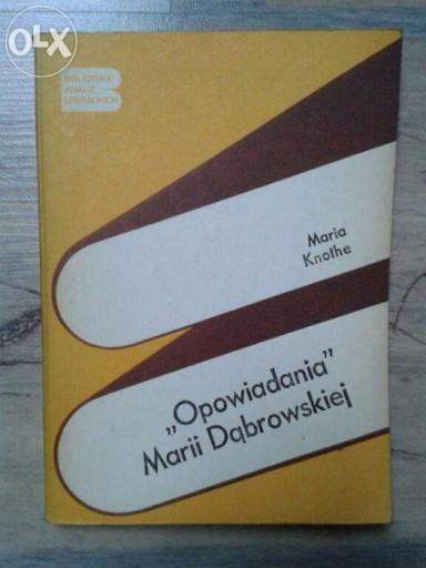 Opowiadania Marii Dąbrowskiej Biblioteka Analiz