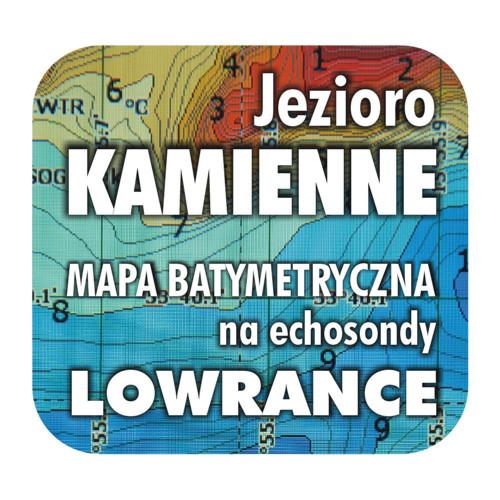 Jezioro Kamienne mapa na echosondy Lowrance Simrad
