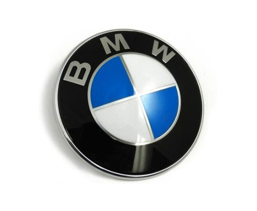BMW 82mm EMBLEMA VARIKLIO DANGTIS (KAPOTAS) MELYNA LOGO