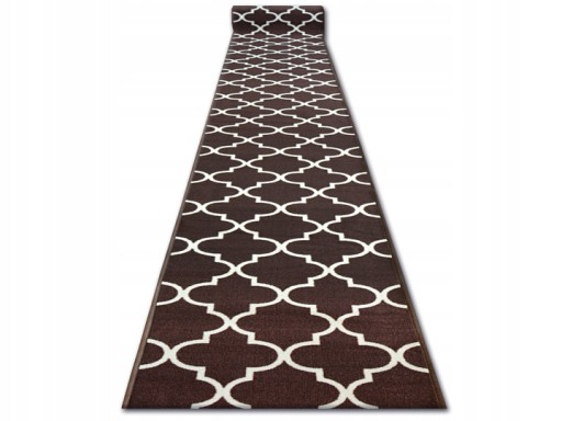Dywany łuszczów Chodnik 80cm Guma Koniczyna Szary