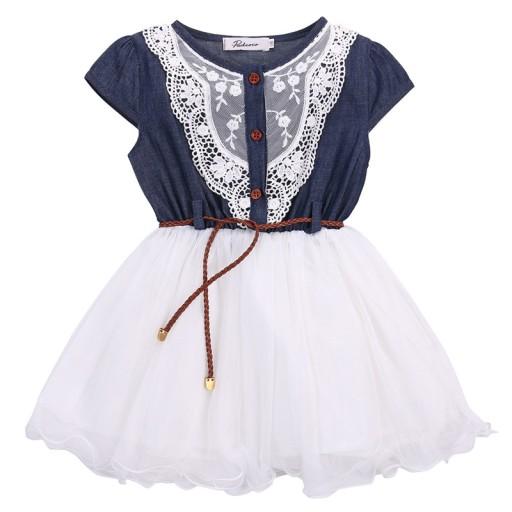 148aa27ed0 ŚLICZNA Sukienka Tiulowa Haftowana r. 92-98 cm 7608660881 - Allegro.pl