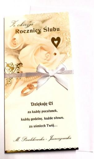 Kartka Rocznica ślubu Zdobiona życzenia Gody