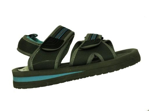 Sandałki szare - piankowe, plaża lekkie r. 37 s 10461134308 Obuwie Męskie Męskie OO JUSEOO-6