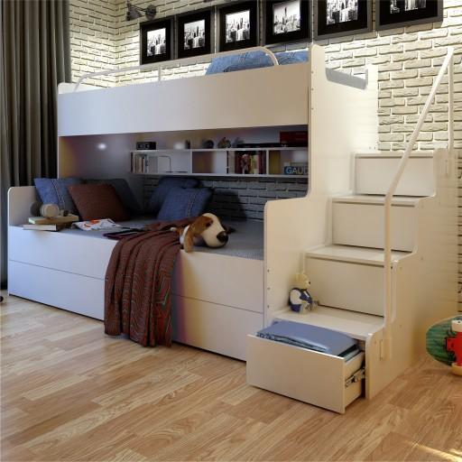 łóżko Piętrowe Dla Dzieci Jsm 3 Max3 Kolor Biały