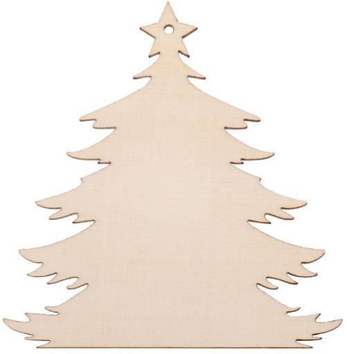 91fe7cb51d8ec4 CHOINKA drewniana zawieszka świąteczna 8cm DEKOR 7065420343 - Allegro.pl