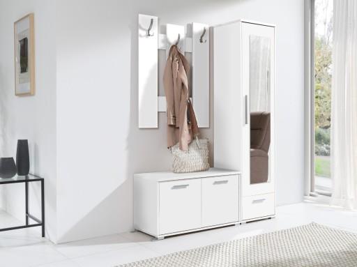 Biała Garderoba Hirek Zestaw Mebli Do Przedpokoju