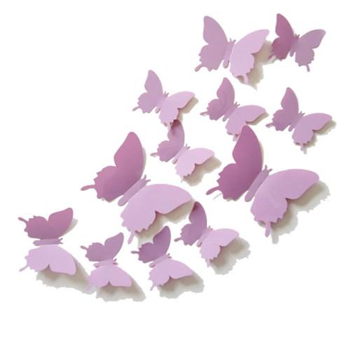 Motylki Motyle 3d Na ścianę Naklejki 72 Sztmontaż