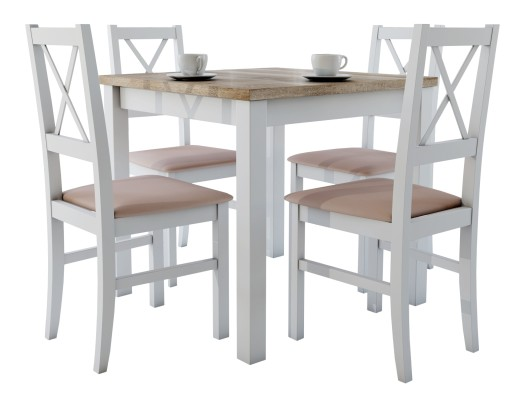śliczny Zestaw Do Kuchni Stół 4 Krzesła Okazja