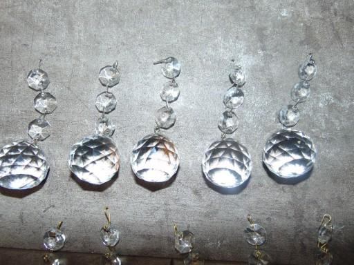 Stara szklana kula dolna dł.9,4 cm.