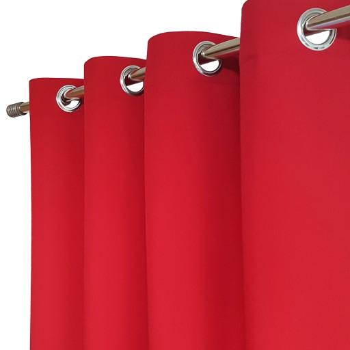Zasłony gotowe HEAVEN 140x250 PRZELOTKI czerwony