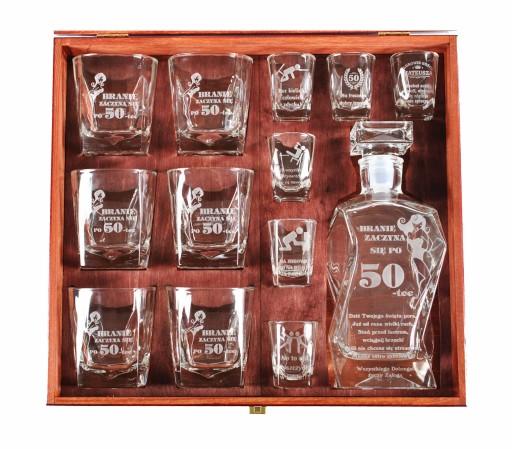 90ca801726 zestaw karafka prezent na 18 30 40 50 urodziny 7209778972 - Allegro.pl