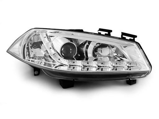 Lampy Przod Renault Megane 2 02 Chrom Led Diodowe Pajeczno Allegro Pl
