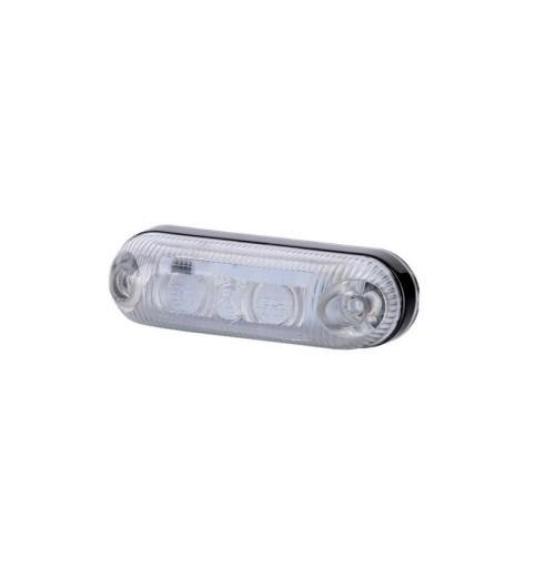 PAKRASCIO BALTAS LED OVALUS 80x18
