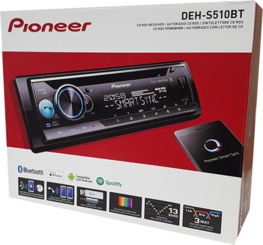 Pioneer Deh S510bt Radio Samochodowe Bt Usb Mp3 Cd 7677783224 Sklep Internetowy Agd Rtv Telefony Laptopy Allegro Pl