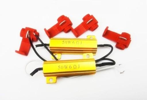 Rezystor symulator żarówek LED 50W 6 Ohm kierunki