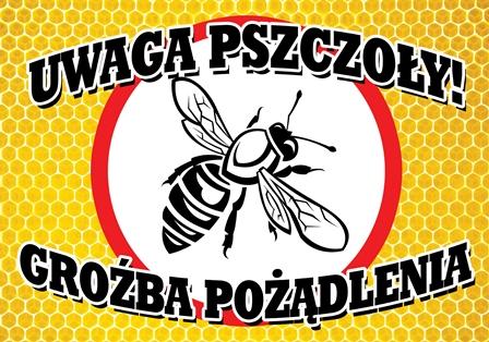 Tablica Ostrzegawcza Uwaga Pszczoly 21 5 X 30 Cm 7212809284 Allegro Pl