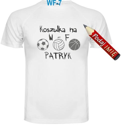 46725c472 Koszulka na WF z imieniem dziecka oddychająca 158 7599346912 ...