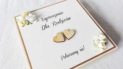 Zaproszenia ślubne Dla Rodziców Drewniane Pudełko 7036121562