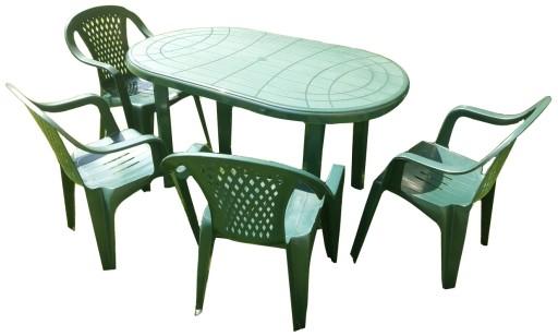 Plastikowy Mocny Zestaw 4 1 Krzesla Stol Ogrodowy 7410165303 Allegro Pl