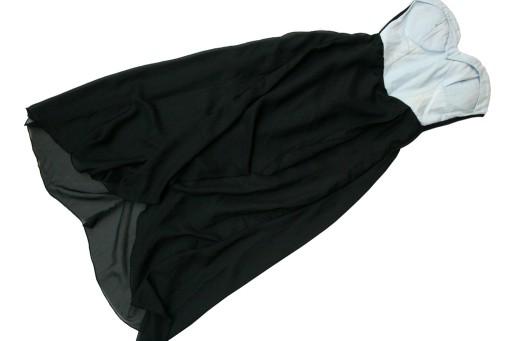CARMIN sukienka GORSETOWA asymetryczny dół 36/S
