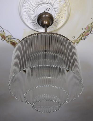 Bardzo dobry Antyki24 Lampa Stylowa Wisząca Żyrandol Art Deco 6973464193 LI18
