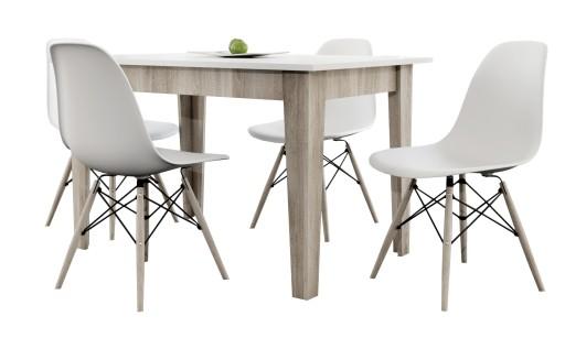Stół Rozkładany 80x140x180 Z 4 Krzesłami Do Salonu