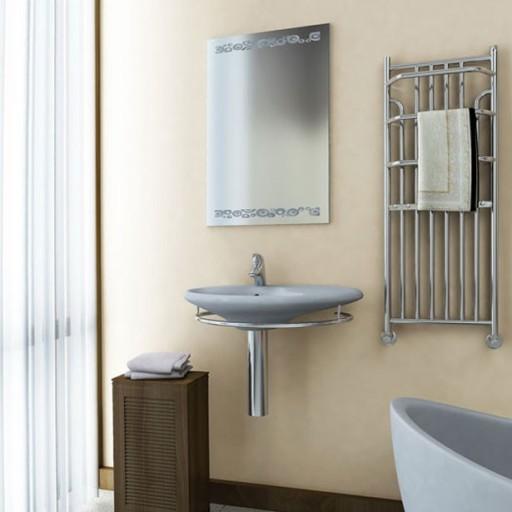 czarny grzejnik łazienkowy Minas 120 x 53 retro