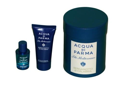 acqua di parma blu mediterraneo - bergamotto di calabria woda toaletowa 5 ml  zestaw